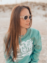Load image into Gallery viewer, Ty Williams Organic Crew Neck Sweatshirt-Aqua