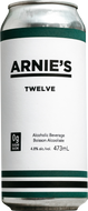 Arnie's Twelve - our signature protein beer, the first in Canada. 12g protein, 0g sugar, 11g carbs.