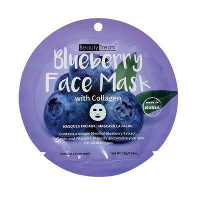 BLUEBERRY FACE MASK WITH COLLAGEN