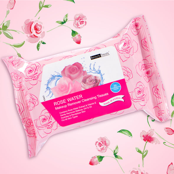 Rose Water Makeup Remover Tissues