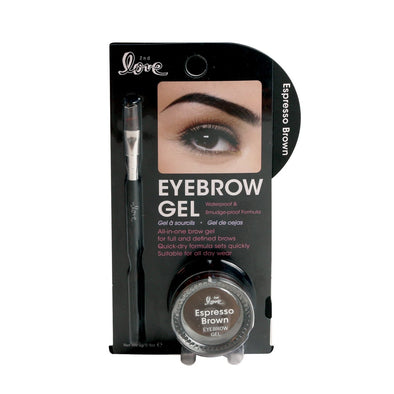 2nd Love Eyebrow Gel with Brush - Espresso Brown