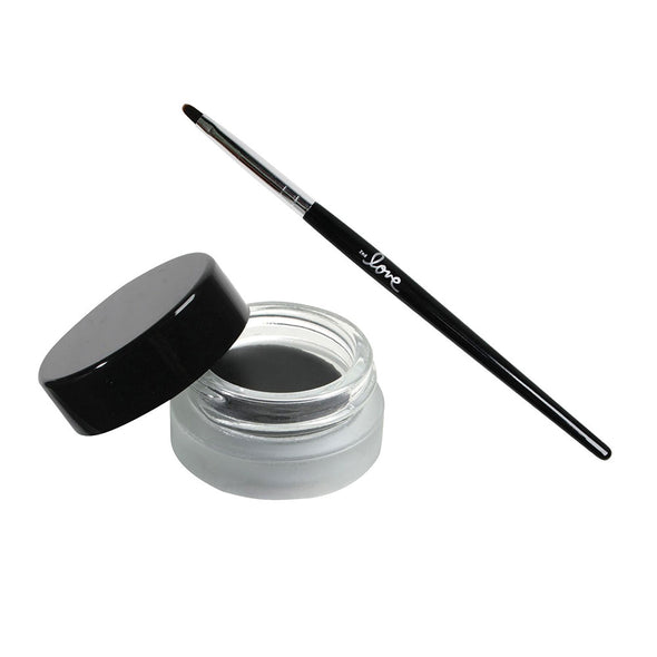 2ND LOVE BLACK EYELINER GEL WITH BRUSH | Long Lasting EyeLiner | 2nd Love Cosmetics