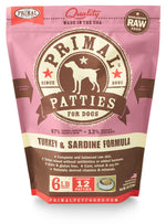 AP67 Primal Turkey/Sardine Patties 6lb.