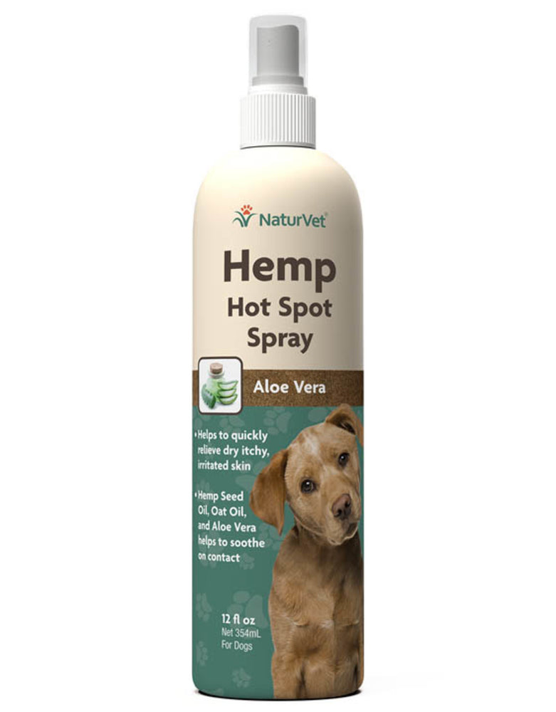 NaturVet Hemp Hot Spot with Aloe Vera Dog Spray