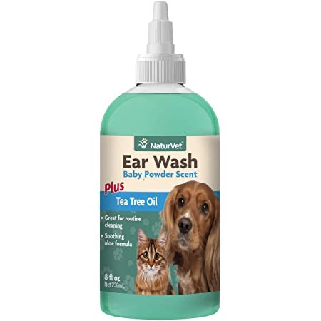 NaturVet Tea Tree Ear Wash 8oz