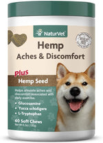 NaturVet Aches Disc HEMP Chews 60ct