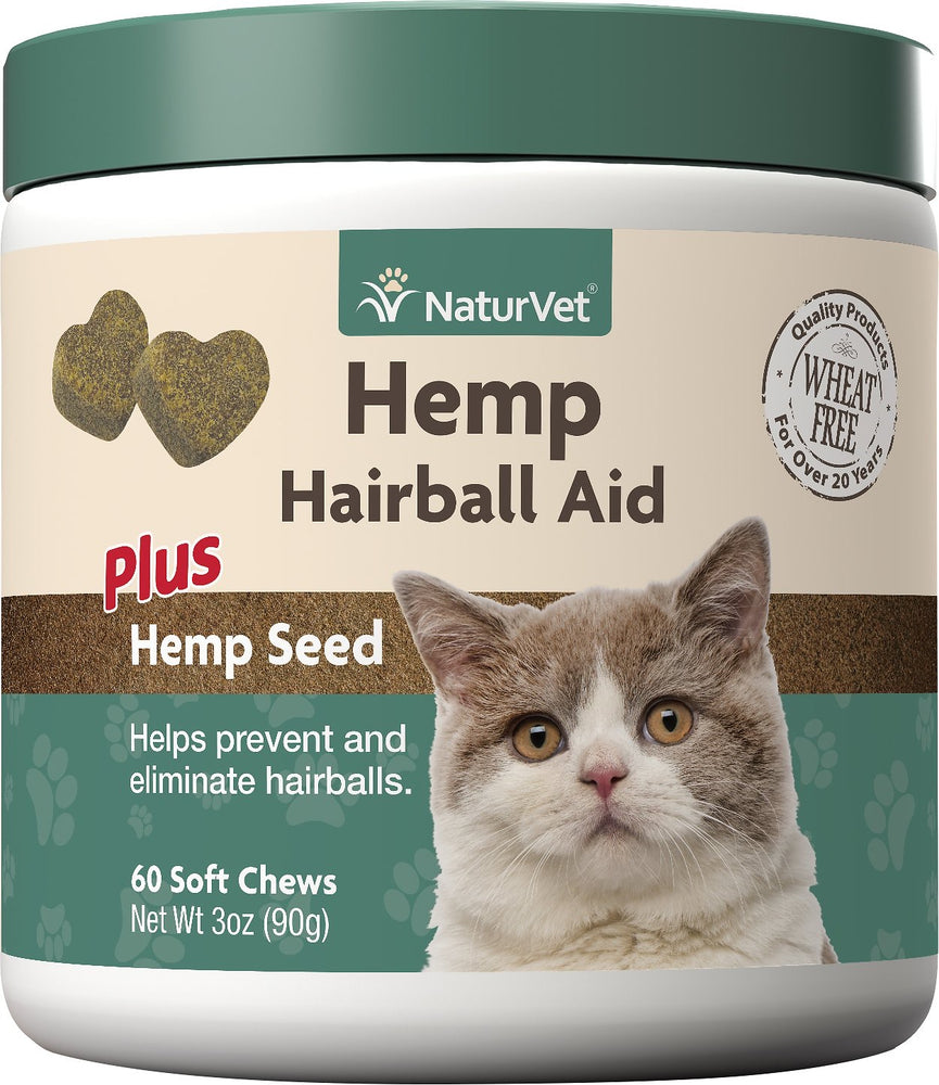 NaturVet Hemp Hairball Aid Cat