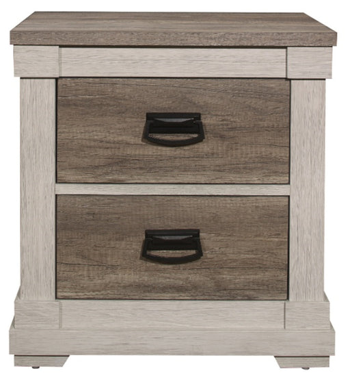 Homelegance Arcadia Nightstand in White & Weathered Gray 1677-4 image
