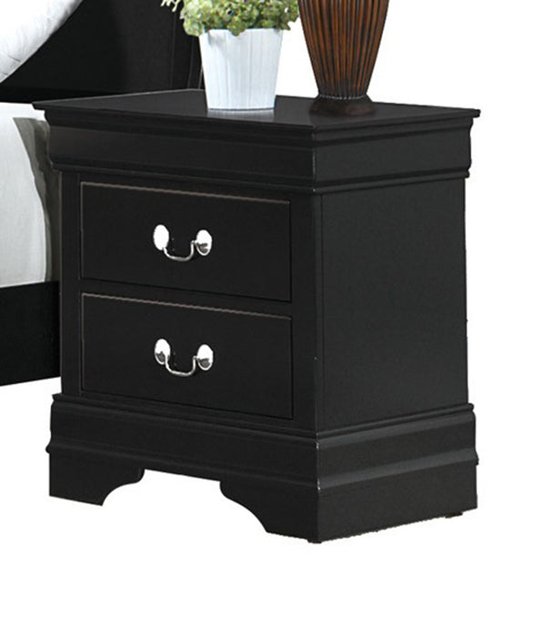 Homelegance Mayville 2 Drawer Nightstand in Black 2147BK-4 image