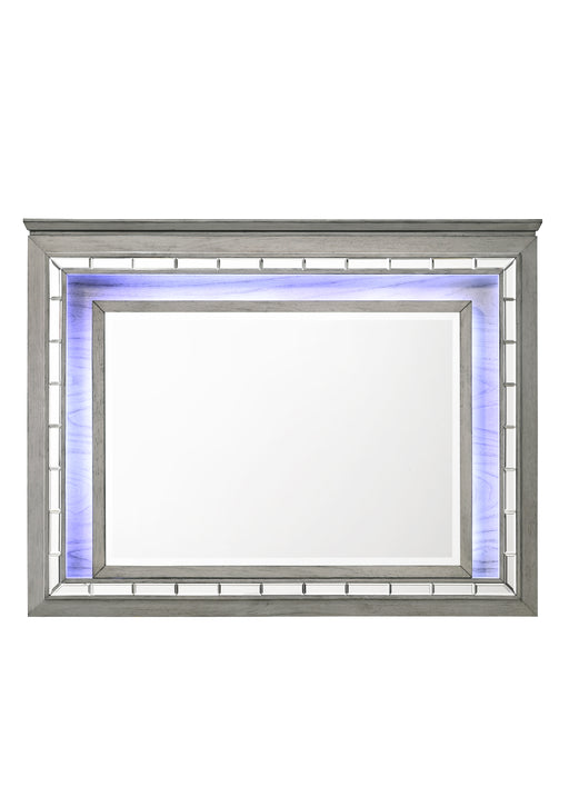 Antares Light Gray Oak Mirror (LED) image