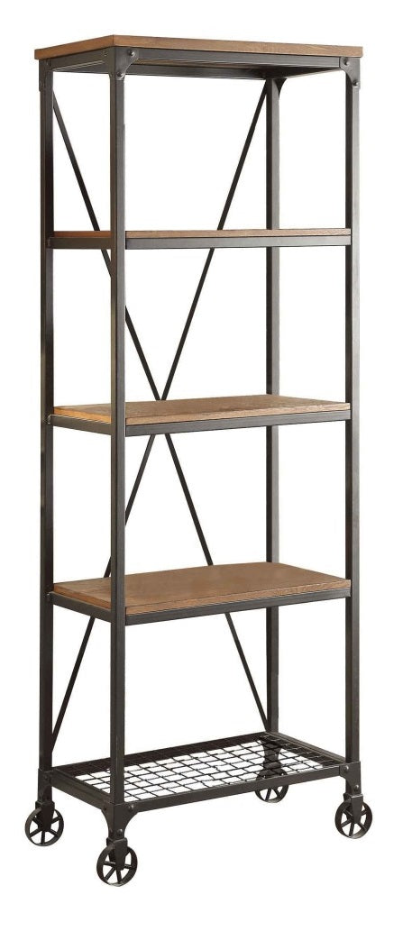 "Homelegance Millwood 26""W Bookcase in Pine 5099-16 image"
