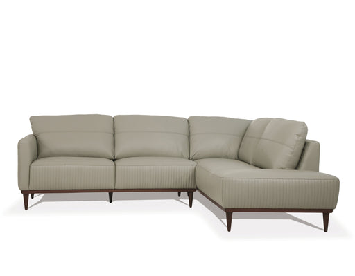 Tampa Airy Green Leather Sectional Sofa image