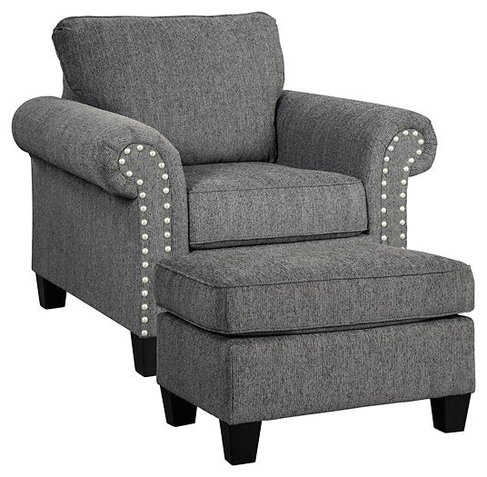Agleno Benchcraft 2-Piece Chair & Ottoman Set image