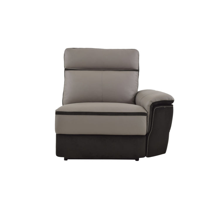 Homelegance Furniture Laertes Power RSF Reclining Chair in Taupe Gray 8318-RRPW image