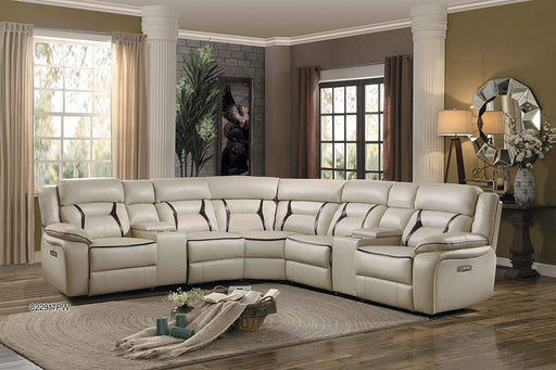 Homelegance Furniture Amite 7pc Sectional Sofa in Beige image