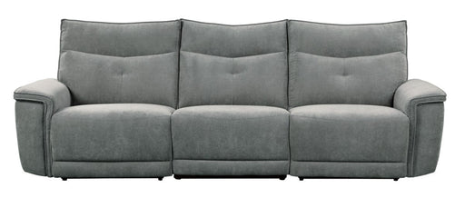 Homelegance Furniture Tesoro Power Double Reclining Sofa w/ Power Headrests in Dark Gray 9509DG-3PWH* image