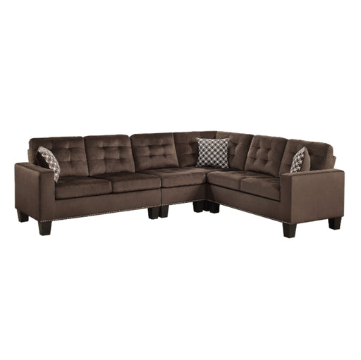 Homelegance Furniture Lantana 2-Piece Reversible Sectional in Chocolate 9957CH*SC image