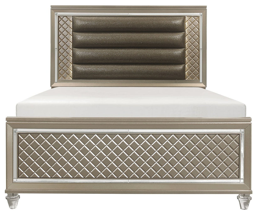 Homelegance Furniture Youth Loudon Full Platform Bed in Champagne Metallic B1515F-1* image