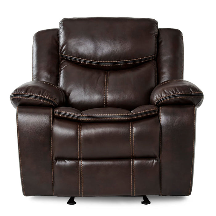 Homelegance Furniture Bastrop Glider Reclining Chair in Brown 8230BRW-1 image