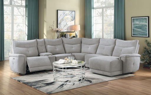 Homelegance Furniture Tesoro 6pc Sectional w/ Right Chaise in Mist Gray image