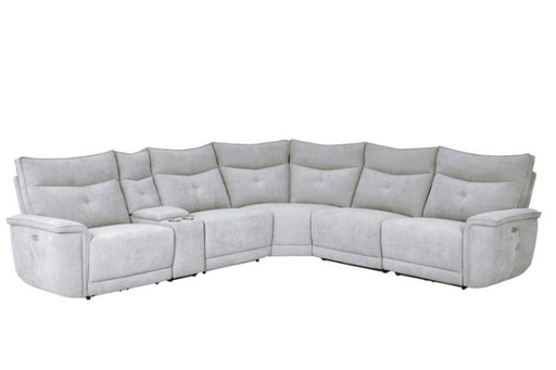 Homelegance Furniture Tesoro 6pc Sectional Living Room Set in Mist Gray image