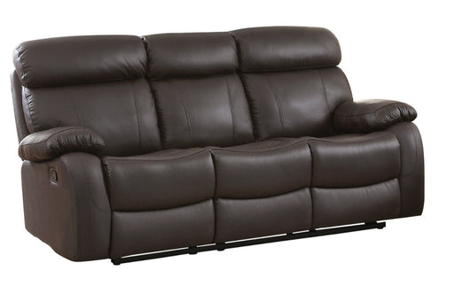 Homelegance Furniture Pendu Double Reclining Sofa in Brown 8326BRW-3 image