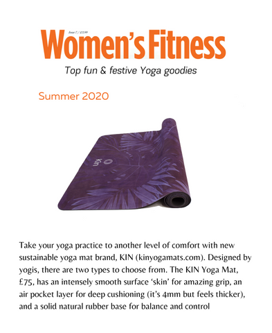 Kin yoga mats in womans fitness magazine