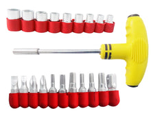 Load image into Gallery viewer, 1525 21 pcs T Shape Screwdriver Set Batch Head Ratchet Pawl Socket Spanner Hand Tools - DeoDap