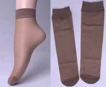 Load image into Gallery viewer, 1213 (pack of 5) Soft Transparent Women's Ankle Length Silk Socks