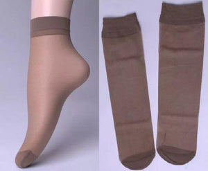 1213 (pack of 5) Soft Transparent Women's Ankle Length Silk Socks