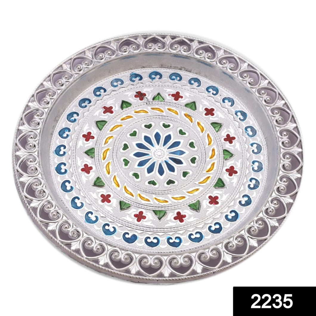 2235 Silver Plated Pooja Thali
