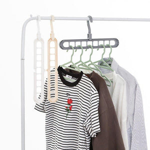 0238 9 Hole Plastic Hanger Hanging hook Indoor Wardrobe Clothes Organization Storage Balcony Windowsill Suit Racks