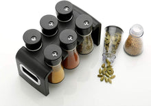 Load image into Gallery viewer, 0100 Plastic Spice Rack Masala Organiser (6 Pcs) - DeoDap