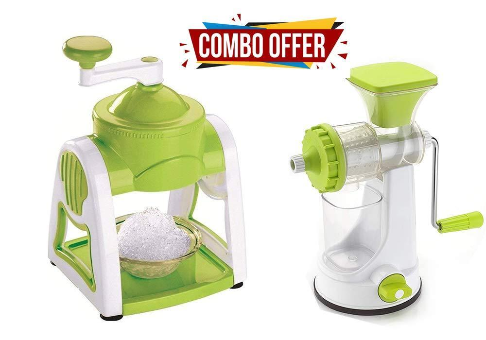 Orange Props Kitchen combo - Manual Fruit Juicer and Portable Ice Slush Maker (Gola Maker)