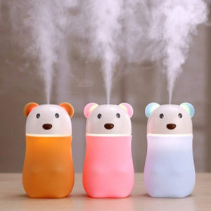 1204 USB Lovely Bear Humidifier, Air Diffuser Freshener with LED Night Light