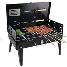Load image into Gallery viewer, 0125 Stainless Steel Briefcase Style Barbecue Grill Toaster (Medium, Black)