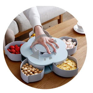 0706 Smart ; Candy Box Serving Rotating Tray Spice Storage (SMALL)