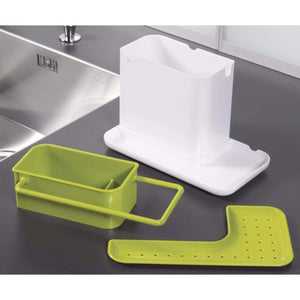 2155 Plastic 3-in-1 Stand for Kitchen Sink Organizer Dispenser for Dishwasher Liquid - DeoDap