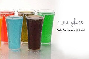 0630 Stylish look Juicy Glass, Transparent Glasses Set 300ml (6pcs)