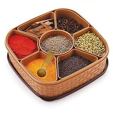 Load image into Gallery viewer, 2198 Masala Rangoli Box Dabba for keeping Spices - DeoDap