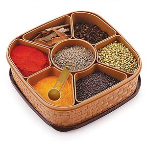 2198 Masala Rangoli Box Dabba for keeping Spices - DeoDap