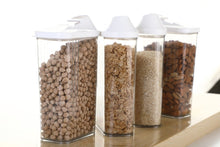 Load image into Gallery viewer, Orange Props Cereal Dispenser Easy Flow Storage Jar 750 ml 12 Pcs Set, Plastic, 10 in, White