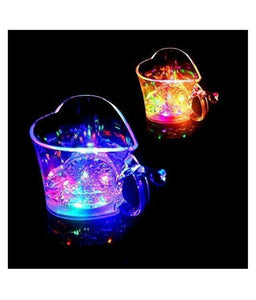 0759 Heart Shape Activated Blinking Led Glass Cup