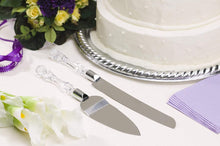 Load image into Gallery viewer, 2131 Stainless Steel Cake Knife Server Set with Handle Slicer - DeoDap