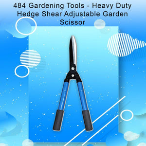 0484 Gardening Tools - Heavy Duty Hedge Shear Adjustable Garden Scissor with Comfort Grip Handle