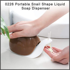 0226 Portable Snail Shape Liquid Soap Dispenser