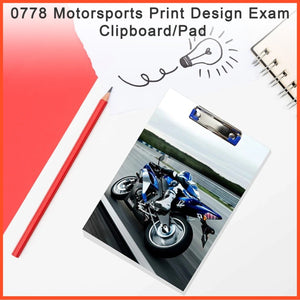 0778 Motorsports Print Design Exam Clipboard/Pad