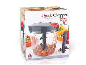 2197 Vegetable Chopper, Cutter, Mixer for Kitchen with 6 Stainless Steel Blade (900 ML) - DeoDap