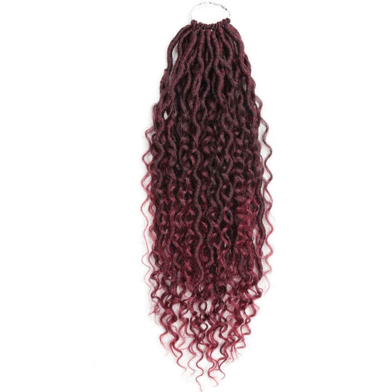 14 inch Goddess Locs Crochet Hair Braids #T530 Burgandy Products