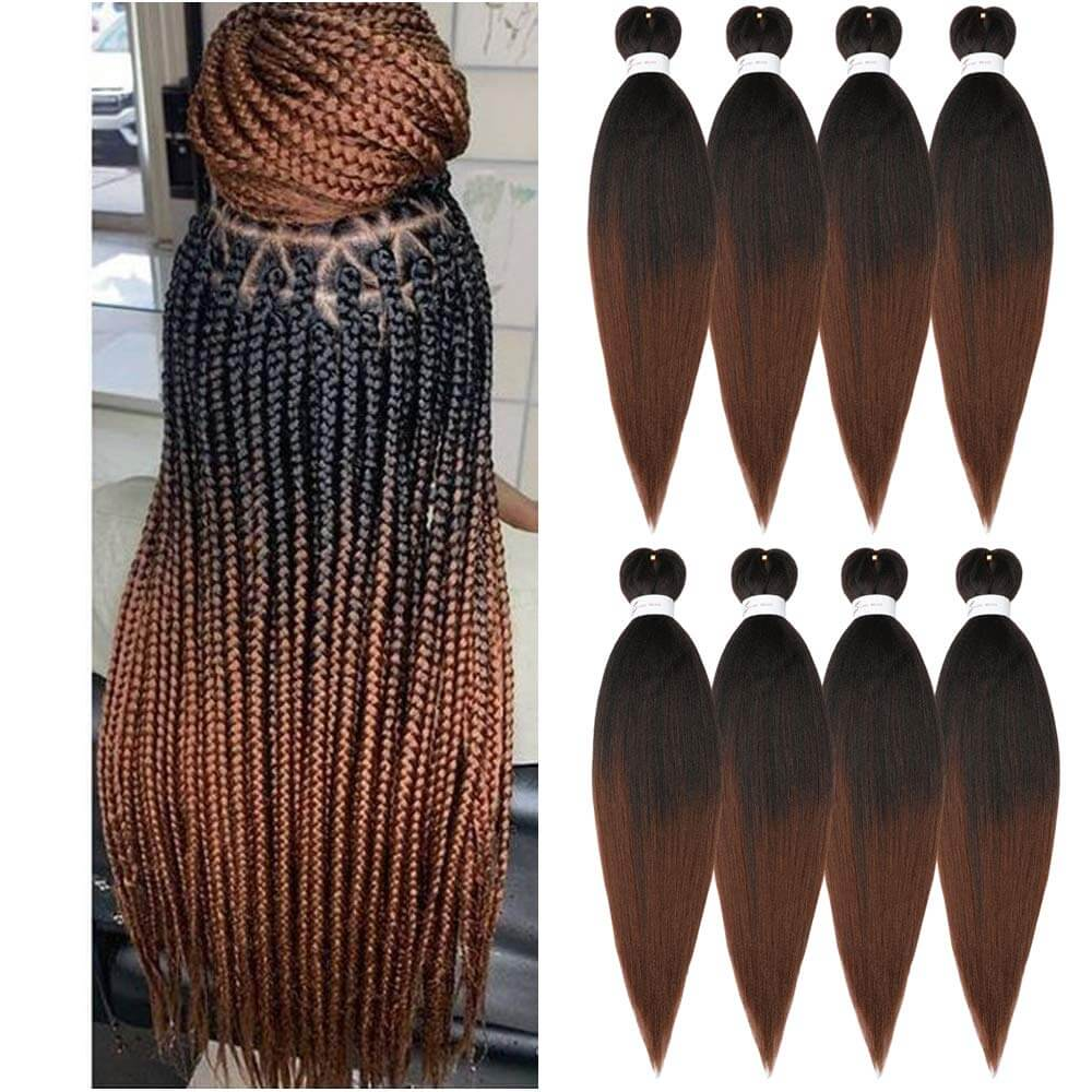 1B 30 Brown Hair Extensions E Z Braiding Hair